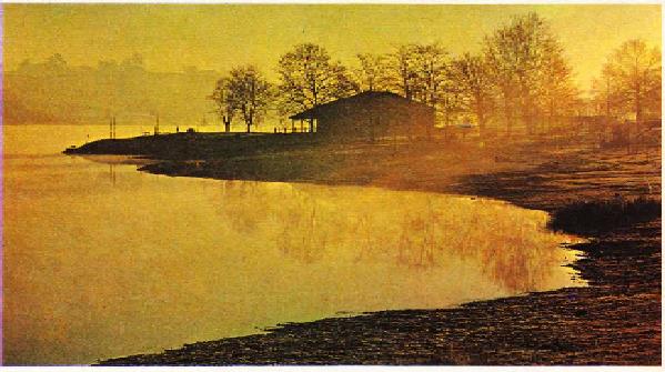Fransada gersde saint cricg gölünden görünüş