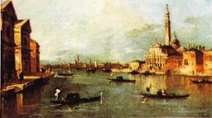 Francesco Guardi'nin Giudecca ve San Giorgio Maggiore adlı tablosu
