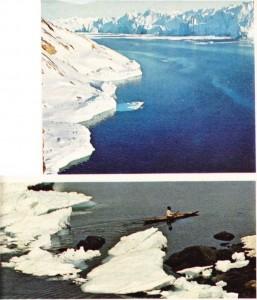 Grönland ve fok avına çıkan eskimolu