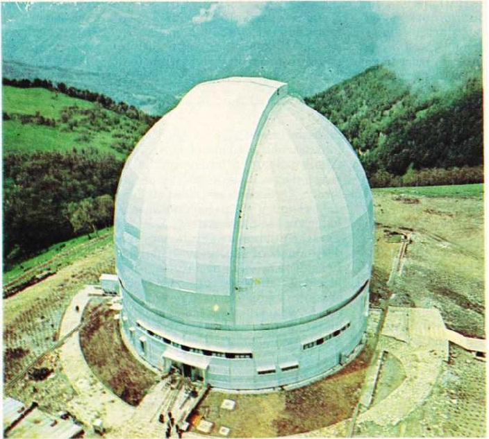 Kafkasya'daki Zelençuk Teleskopunun Ana Kubbesi