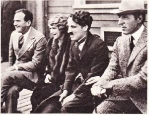 Soldan Sağa Douglas Fairbanks Mary Pickford Chaplin Griffith
