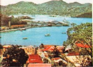 Başkent Saint George'sdan bir görünüş