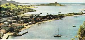 Saint-Martin adasının Fransız kesiminin merkezinden bir görünüş