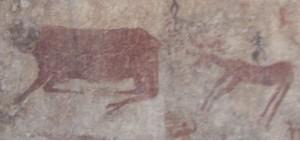 Çatalhöyük Duvarlarına çizilen sığır figürü