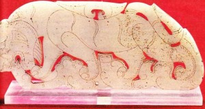 Çin sanatı yeşim taşından yapılmış kaplan.