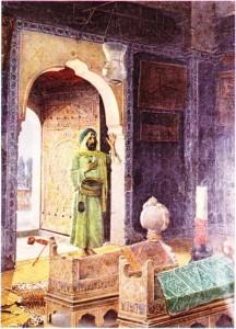 Osman Hamdi Bey'in Şehzade Türbesinde derviş adlı tablosu
