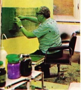 Hans Hartung çalışırken
