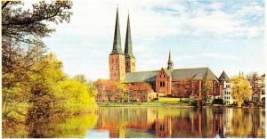 Hansa Birliğinin eski merkezi olan Lübeck'ten bir görünüş