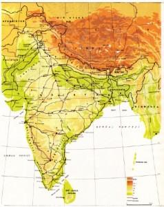Hindistan Fiziki Haritası