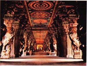 Madurai'de 1000 sütun tapınağı.
