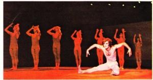 Murice Bejart'ın İlkbahar Ayini adlı yapıtından bir dans sahnesi