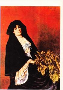 Osman Hamdi Bey'in Mimozalı Kadın (1906) adlı tablosu