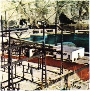 Bir barajın transformasyon merkezi