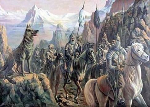 Türklerin Ergenekondan çıkışının resmedilmesi
