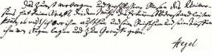 Hegel'in el yazısı