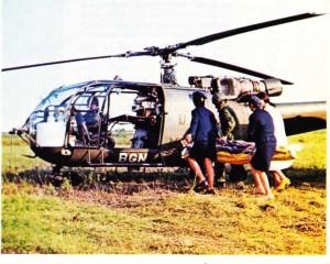 Helikopterle hasta taşınması