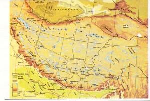 himalaya dağları fiziki haritası