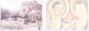 Uygurlara ait kent kalıntısı ve bir Uygur freski