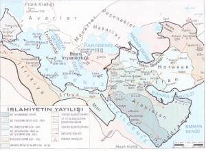 İslamiyetin yayılış haritası