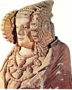 1897'de, Alicante yakınlarında bulunmuş Elcheli kadın figürü