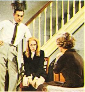Ippı Hedren ve Searı Zonnery.Hitchcock'un Hırsız Kız adlı filminde.