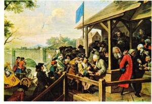 Hogarth'ın Seçim adlı tablosu