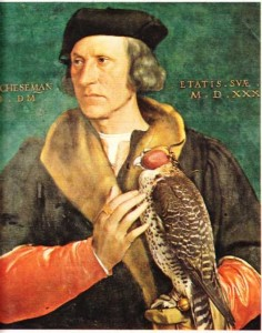 Holbein yaptığı Robert Cheseman'ın portresi