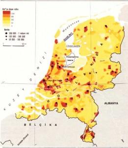 Hollanda nüfus yoğunluğu haritası