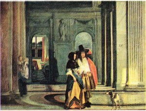 Hoogh'un Gezintiye Çıkma adlı tablosu
