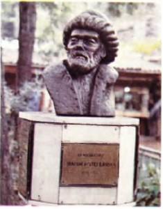 İbrahim Müteferrika'nın Sahaflar Çarşısındaki (İstanbul) büstü.