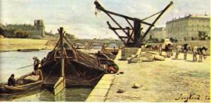 Jongkind'in Royal Köprüsünden Görünüş adlı tablosundan