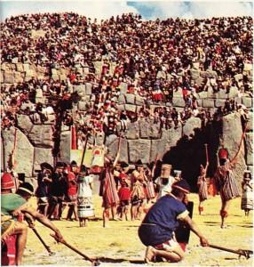 Cuzco'da, 24 Haziranda İnka döneminde olduğu gibi Güneş Bayramını kutlayan yerliler
