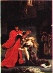 Shakespeare'in Othello adlı oyunundan bir sahnenin Delacroix tarafından yapılmış tablosu.