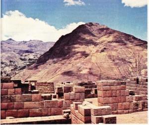 İnka Uygarlığı Cuzco'daki Pisac haerebeleri
