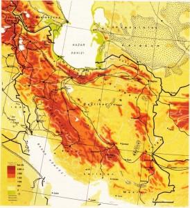 iran fiziki haritası
