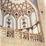 İsfahan'dan Şiraz'a giden yol üstündeki kapalı köprüden ayrıntı.