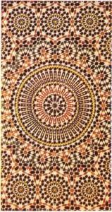 Rabat'taki (Fas) İslam sanatının ürünü olan bir mozaik