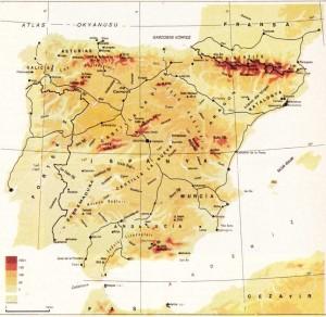 ispanya fiziki haritası