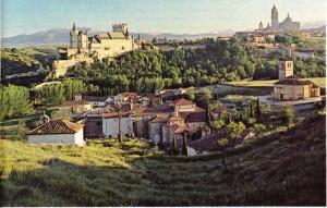 Madrid'in 80 km yakınında kurulmuş olan Segovia'dan bir görünüş