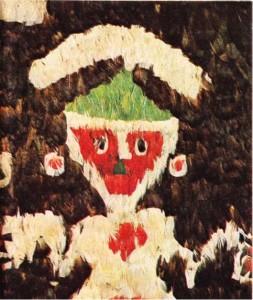 XV. yy'dan kalma tüyden mozaikle süslü bir manto
