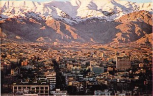 Tahran'da iş çevrelerinin yer aldığı kesimden bir görünüş