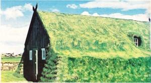 Toprakla kaplı olduğu için üstünde otlar bitmiş olan Arbaer Kilisesi