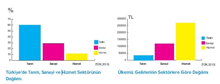 Türkiye Gelirleri sektörel dağılımı