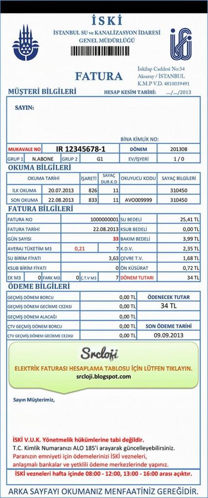 su faturası vergi kesintileri
