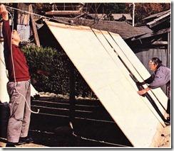Japonya'da, kağıt pencere ısıllarının kurutulması