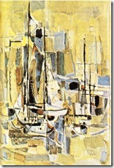 Ercüment Kalmık'ın Liman adlı tablosu