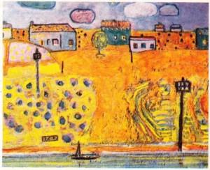İhsan Cemal Karaburçakın bir tablosu.
