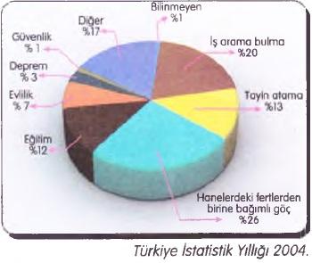 Türkiye göç sebep istatistiği