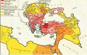 osmanlı genişleme haritası