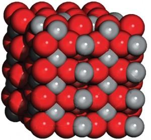 buz kristali madde modeli